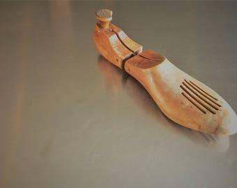 Vintage Wooden Shoe Mold - Vintage Shoe Form