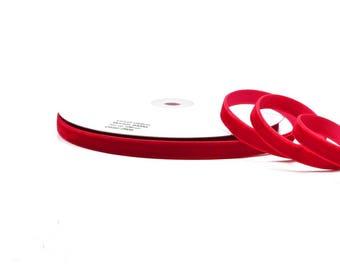 1 meter of Ribbon velvet ref 250, 9 mm wide