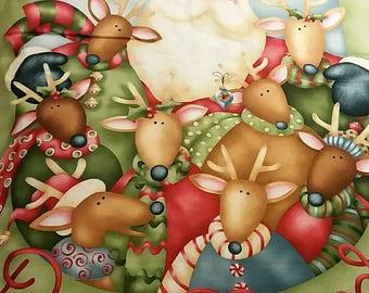 Chrsitmas fabric panel decoration - handmade - Panneau mural en tissu pour décorer votre maison