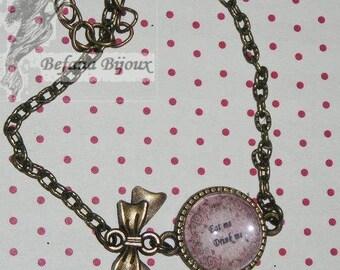 Bracelet cabochon Eat me Drink me (cabochon bracelet)