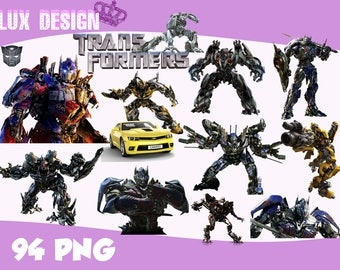 94 Transformers ClipArt- PNG Images Digital, Clip Art, Instant Download, Graphics transparent background Scrapbook