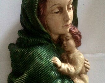 Madonna with child Antique   Interior design   Collectible Home&Living Vintage item 1910s