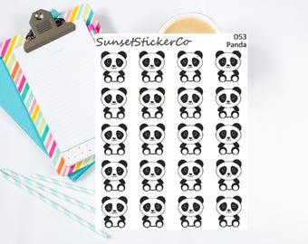 Panda Character Clipart (D53)