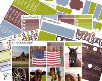 Country Roads | Erin Condren Weekly Kit (K14)