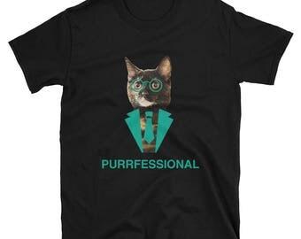 Torite Cat PURRFESSIONAL Funny Tortoiseshell Cat T-Shirt