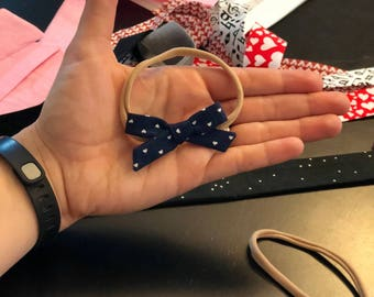 Small Printed Schoolgirl Bow