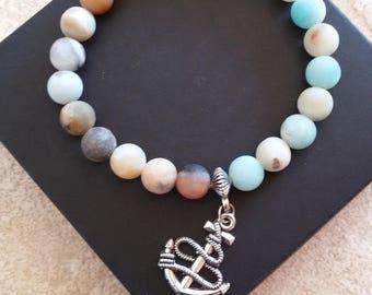 Mens natural stone bracelet.