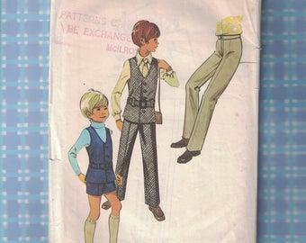 STYLE Sewing Pattern Boys aged 4 Years - Sleeveless Jacket, Trousers and Shorts Patt No 3422 - Year 1971 (E3b)