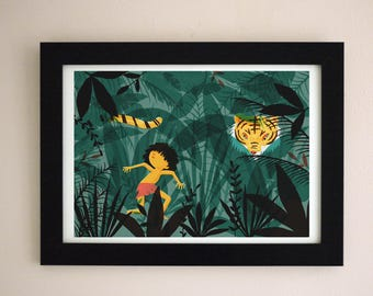 The Jungle Book illustration A4 Giclee Art Print