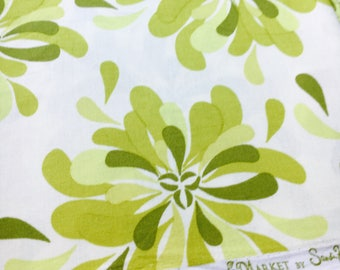 Sandi Henderson for Michael Miller Fabrics, Farmers Market, Petal Party in green. Sold by the FQ.