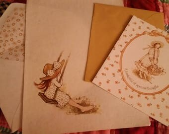Vintage Stationery Collection ~ Brow Swinging  Holly Hobbie Mini Collection