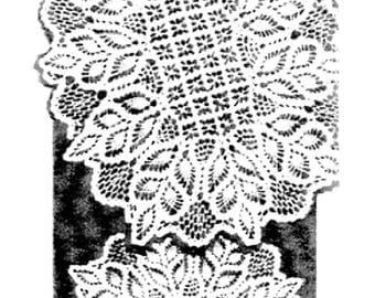 PDF Crochet Pattern, Fern Lacy Doily, Design 7140 Pineapple and Spiderwebs