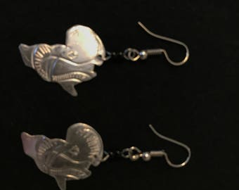 Silver African Continent Earrings
