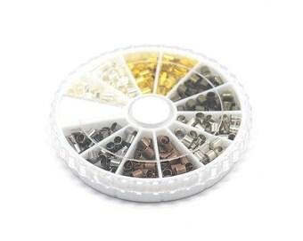 Kit perles tubes à écraser 3 mm Multicolore SKU014259