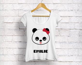 Shirt / Bodysuit Panda bow