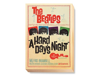 """Vintage Movie Poster Art """"A Hard Day's Night"""""""