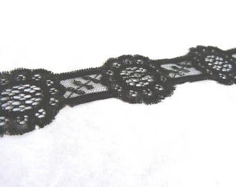Beautiful delicate antique Black Lace