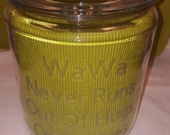 Personalized glass cookie jar