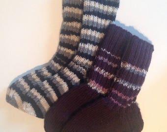 Wool socks, colourful socks