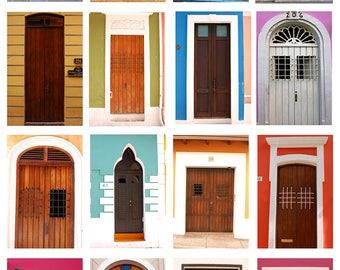 Doors of San Juan, Travel Photography, Home Decor, Wall Art, Interior Design, Puerto Rico