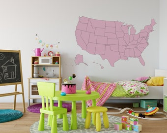 Wall Decal United States Map wall decal