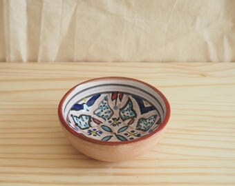 Cute floral small bowl / decorative / ring bowl /north africa handpainted