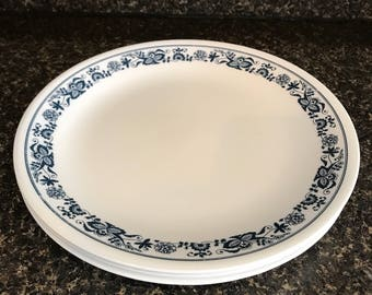 Corelle Old Towne Blue Dinner Plates