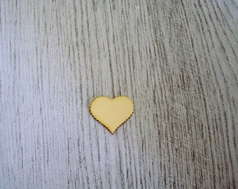 Set of 20 hearts 1329 embellishment wooden creations