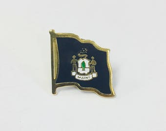 Maine State Flag Pins