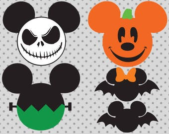 Disney Halloween SVG, Halloween svg, Disney bat Svg, disney cricut and silhouette cameo, Disney pumpkin svg, Disney frankenstein svg