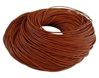 3 metre cocm8 rust colored 2 mm leather cord