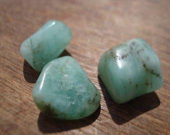 Rough Green Emeralds - 3 Big Raw Green Emeralds - Beautiful Genuine Raw Emeralds Lot MG1085