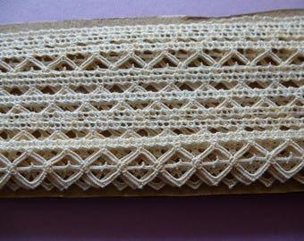 lace vintage lace, pure cotton Ecru yarn