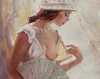 Nude Painting  Original  Oil Painting Woman Portrait Nude Oil on Canvas Nude Painting Woman Portrait Nude