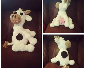 Crochet Stuffed Cow