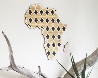 Africa wuzzle art wooden wall decor
