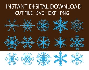 Snowflake svg - snowflake clipart -snowflake silhouette and cricut cut files - snowflake digital download svg, ai,png