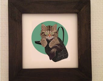 Cat Print, Printable Wall Art, Wall Art, wall decor, Digital Print, Printable Cat Art, little cat print, Crazy Cat Lady Gift