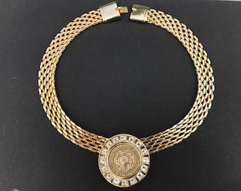 Pierre Balmain vintage rhinestone necklace