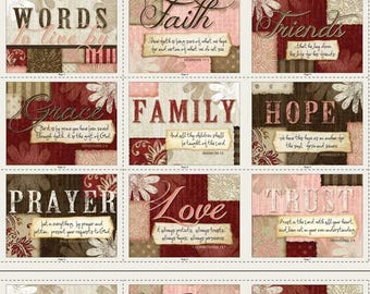 Words to Live By - Jennifer Pugh for Wilmington Prints Fat Quarter Bundle