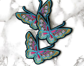 ONE Cool Butterfly Iron On Patch, Insects Fabric Patch, Embroidered Patch, Free Spirit, Birthday Gifts For Her Under 10, Funny Fashion Gift