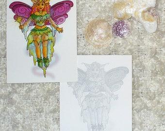 """Card """"Fairy"""" - (10,7 x 13,8 cm)"""