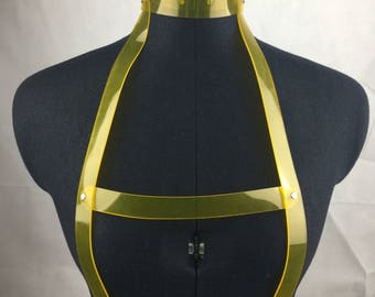READY MADE - Anna Harness yellow pvc