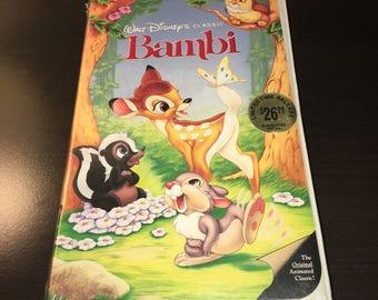 SEALED Walt Disney Classic Bambi VHS Black Diamond Edition