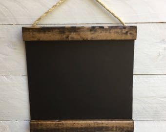 WOOD FRAMED CHALKBOARD | farmhouse chalkboard | 12x12
