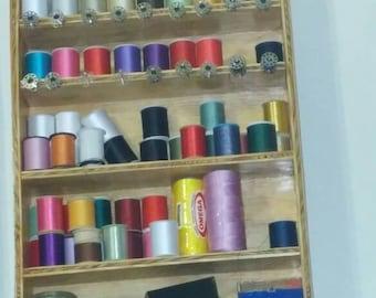 Wooden thread holder
