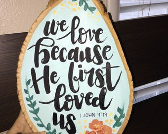 Custom Hand Lettered Bible Verse on Wood