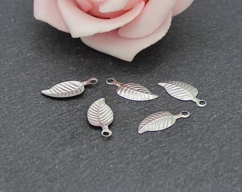 stainless steel 14.5x6.5mm BR657 leaves 20 charms