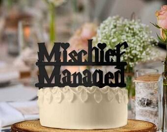 Mischief Managed Hearts Wedding Cake Topper