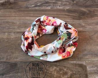 Scarf infinity - baby bib - baby infinity scarf for child neck warmer kids - baby - floral scarf